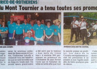 53ème Fête du Mont Tournier - Le Dauphiné Libéré